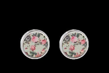 Blumen hellgrün/rosa
